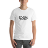 100% GOOD VIBES Short-Sleeve Unisex Tee - 100 Percent Tee Company