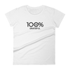100% GRATEFUL Women's Short Sleeve Tee - 100 Percent Tee Company