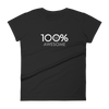 100% AWESOME Women's Short Sleeve Tee - 100 Percent Tee Company