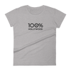 100% HOLLYWOOD Women's Short Sleeve Tee - 100 Percent Tee Company