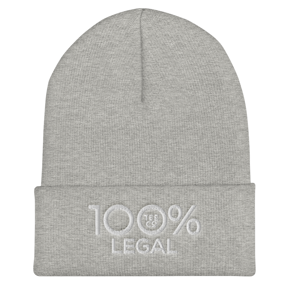 100% LEGAL Cuffed Beanie - 100 Percent Tee Company