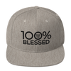 100% BLESSED Snapback Hat - 100 Percent Tee Company