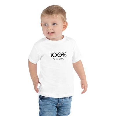 100% GRATEFUL Toddler Short Sleeve Tee - 100 Percent Tee Company