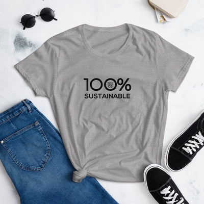 100% SUSTAINABLE Women's short sleeve Tee