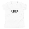 100% PARK CITY Youth Short Sleeve Tee - 100 Percent Tee Company