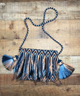 Fringe Clutch Shoulder Bag - BAUDO II