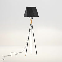 Black tripod floor lamp