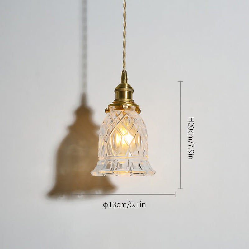 Clear glass pendant lights series