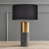 Concrete cylinder table lamp