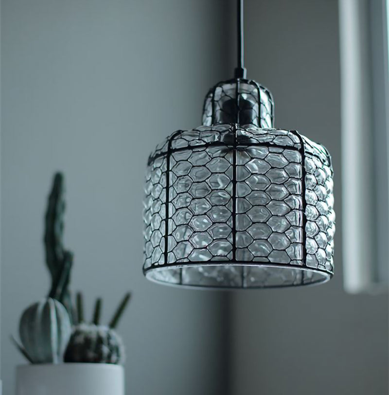 Vintage Glass Pendant Lamp