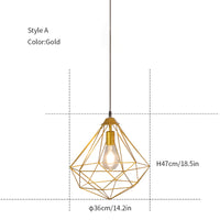 Diamond hanging light