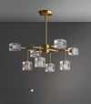 Square Crystal chandelier/Brass crystal chandelier