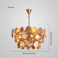 Slice agate chandelier / Tower