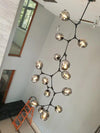 Branching bubble chandelier