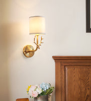 Brass Deer Head Wall Light