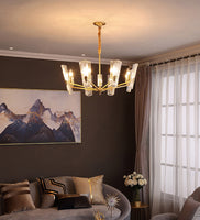 Glass Disks Chandelier/Brass
