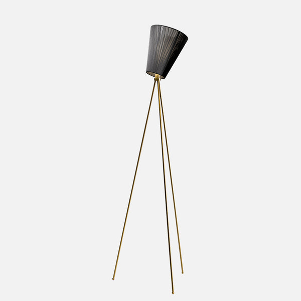 Modern Oslo wood floor lamp