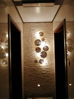 Pure copper lotus leaf wall sconce