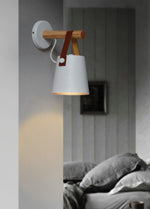LED wooden wall light
