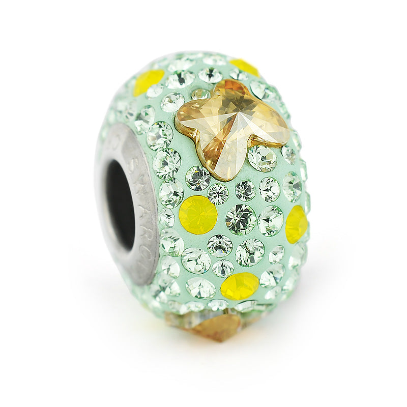 Talisman Charmante Green Meadow, by Swarovski Crystals