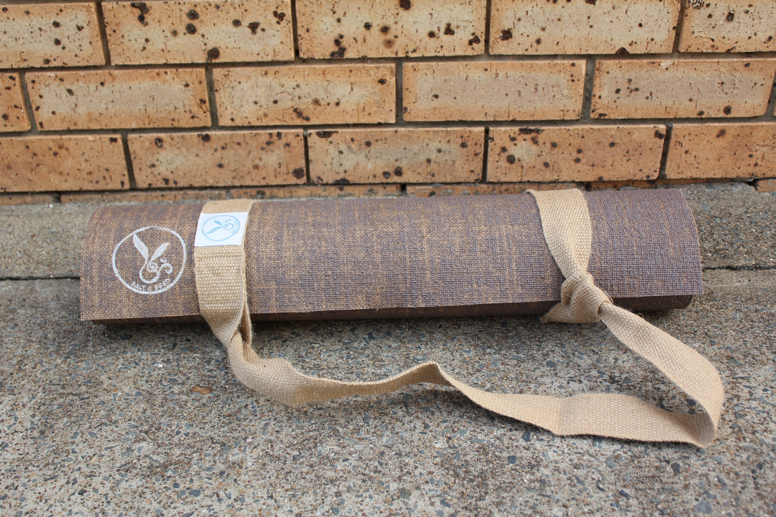 SECONDS - Hemp and Eco Rubber Yoga Mat - Brown Earth