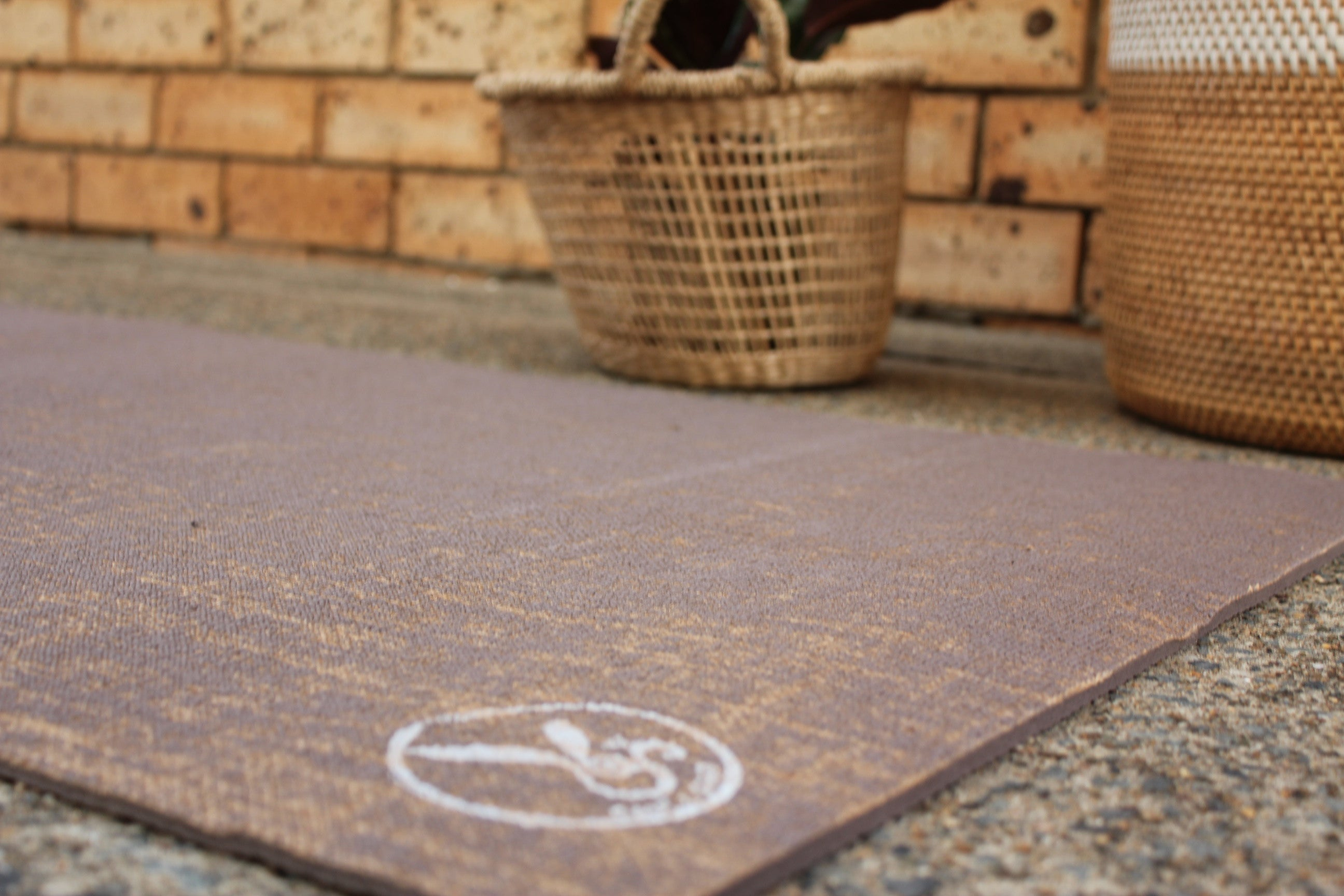 Hemp and Eco Rubber Yoga Mat - Brown Earth