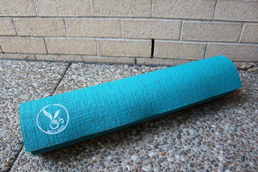 SECONDS - Hemp and Eco Rubber Yoga Mat - Turquoise Ocean