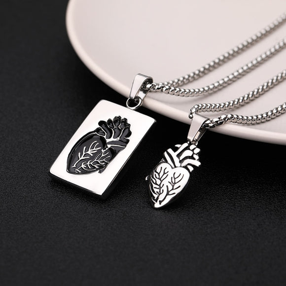 Anatomical Heart Necklace (for couples)
