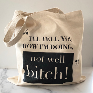 Premium Not Well B by Dorinda Medley on RHONY Canvas Bag