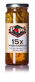 Pops' Pepper Patch 15X Habagardil Hot Pickles - 16 oz.