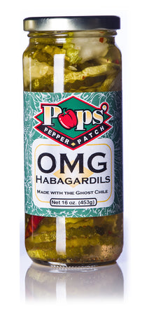 Pops' Pepper Patch OMG Habagardil Pickles - 16 oz.