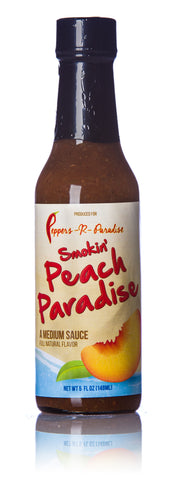 Peppers-R-Paradise Smokin' Peach Paradise Hot Sauce - 5 fl. oz.