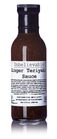 SOBO Unbelieveable Ginger Teriyaki Sauce - 12 fl. oz.