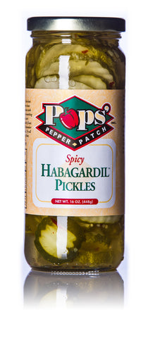 Pops' Pepper Patch Spicy Habagardil Pickles - 16 oz.
