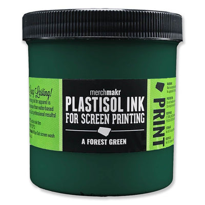 A Forest Green 3308 Merchmakr Plastisol Ink for Screen Printing
