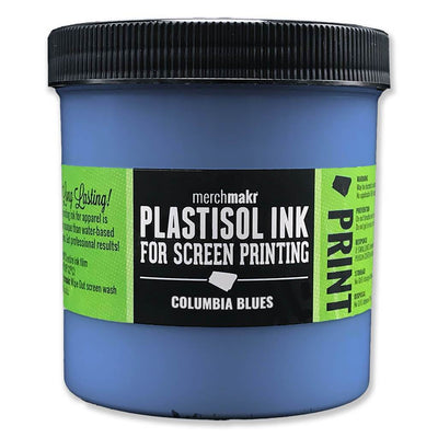 Columbia Blues 2718 Merchmakr Plastisol Ink for Screen Printing