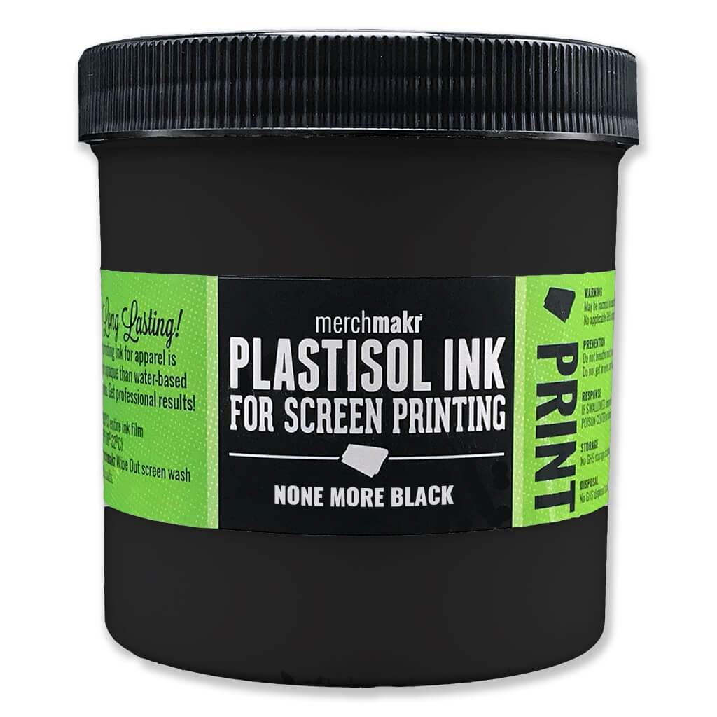 None More Black Merchmakr Plastisol Ink For Screen Printing