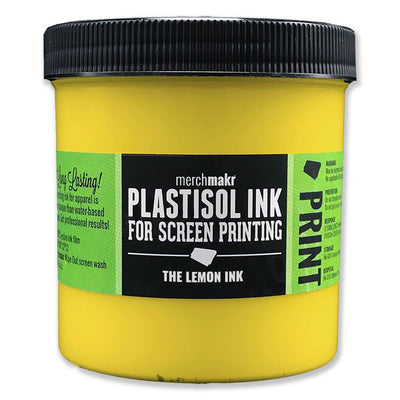 The Lemon Ink Yellow 107 Merchmakr Plastisol Ink for Screen Printing