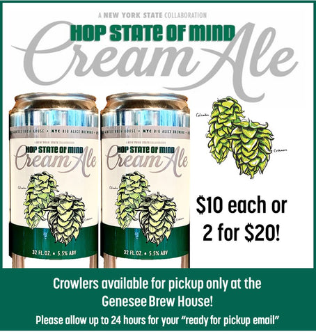 Hop State of Mind Cream Ale Crowlers