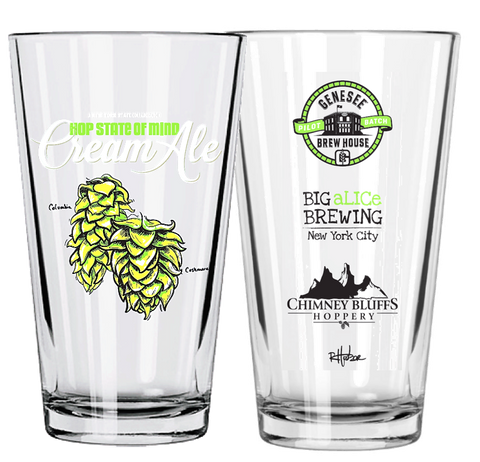 Hop State CA Pint Glass