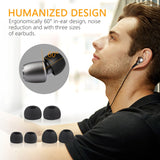 Gritin Earphones, In ear Earbuds Headphones with Microphone - High Resolution, Heavy Bass, Noise Isolating, Pure Sound for iPhone, iPad, Samsung and More Android Smartphones