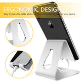 Gritin Phone Stand Holder - Pure Aluminum Super Stable Desktop Stand Holder Cradle Compatible with iPhone X 8 7 6, Nintendo Switch, HUAWEI, Samsung and more