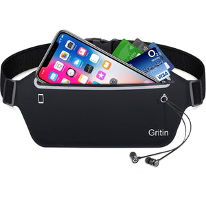 Gritin Running Belt with Adjustable Elastic Strap