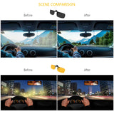 Gritin Clip on Sunglasses, [2-Pack/Day+Night Vision] Mens/Womens UV400 Flip-Up Polarised Sunglasses - Convenient and Secure Fit over Prescription Eyeglasses Ideal for Driving and Outdoors