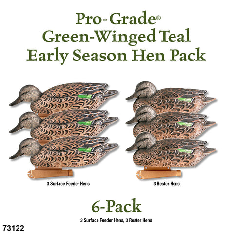 Avery/ GHG Pro Grade Green-Winged Teal Early Season Hens 6 Pack