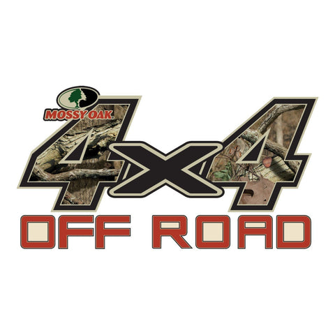 "Mossy Oak Graphics 4 x 4 OFF ROAD  Decal Small 7""x 3.75"" Break-Up Infinity"