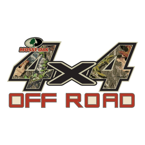 "Mossy Oak Graphics 4 x 4 OFF ROAD  Decal Large 13.75""x 7.5"" Obsession"