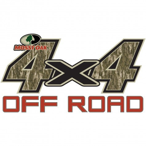 "Mossy Oak Graphics 4 x 4 OFF ROAD  Decal Large 13.75""x 7.5"" Bottomland"