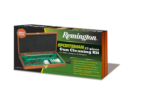 Remington Sportsman 27 Piece Gun Cleaning Kit for Shotguns & Rifles