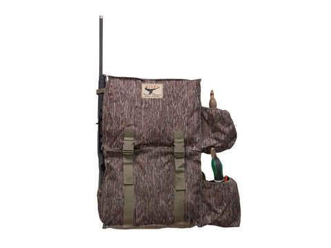 Avery Decoy Back Pack for 12 duck decoys and 2 Spinning wing Decoys Bottomland Camo